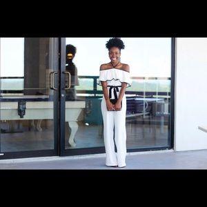 Pants - Black & White Jumpsuit
